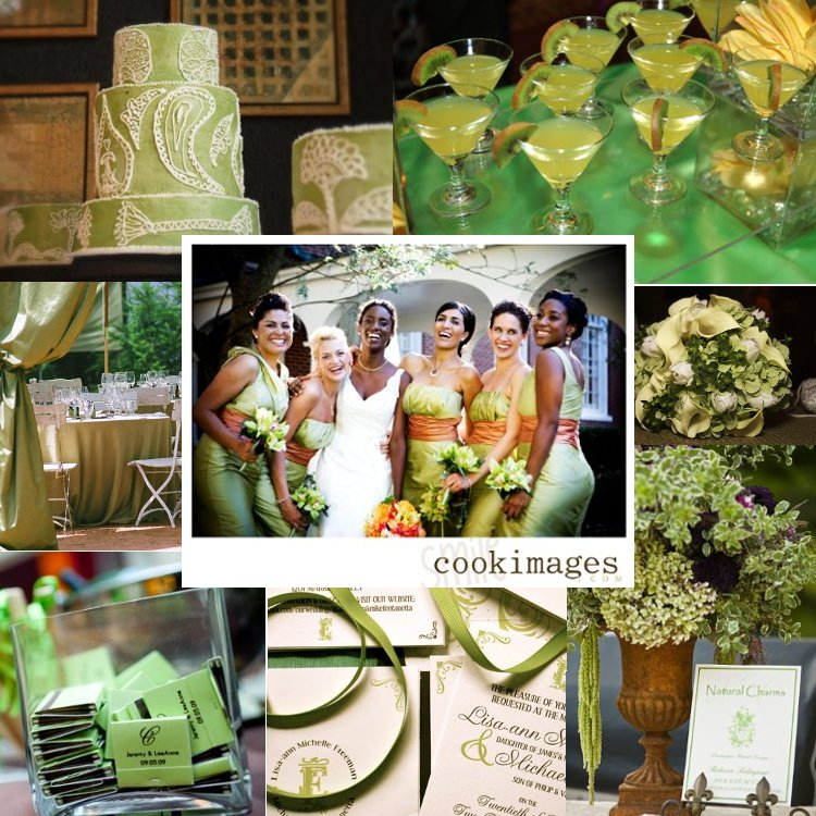 green wedding ideas green wedding inspiration board Photos by Classic Party